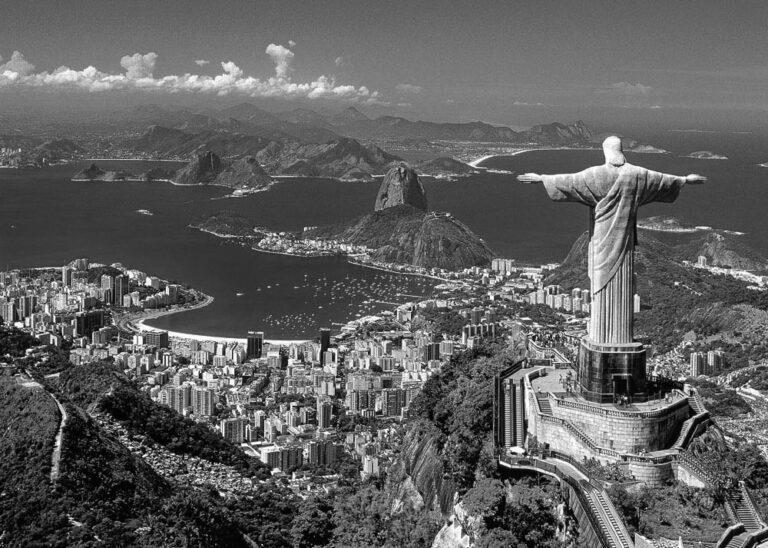 View over Rio de Janeiro in South America